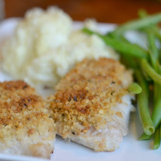 Easy Baked Pork Chops with Panko and Herb Topping