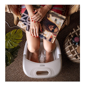 Aparat hidromasaj pentru picioare, incalzire automata si vibratii, Camry 6L