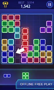 Puzzle game : Glow block puzzle - náhled
