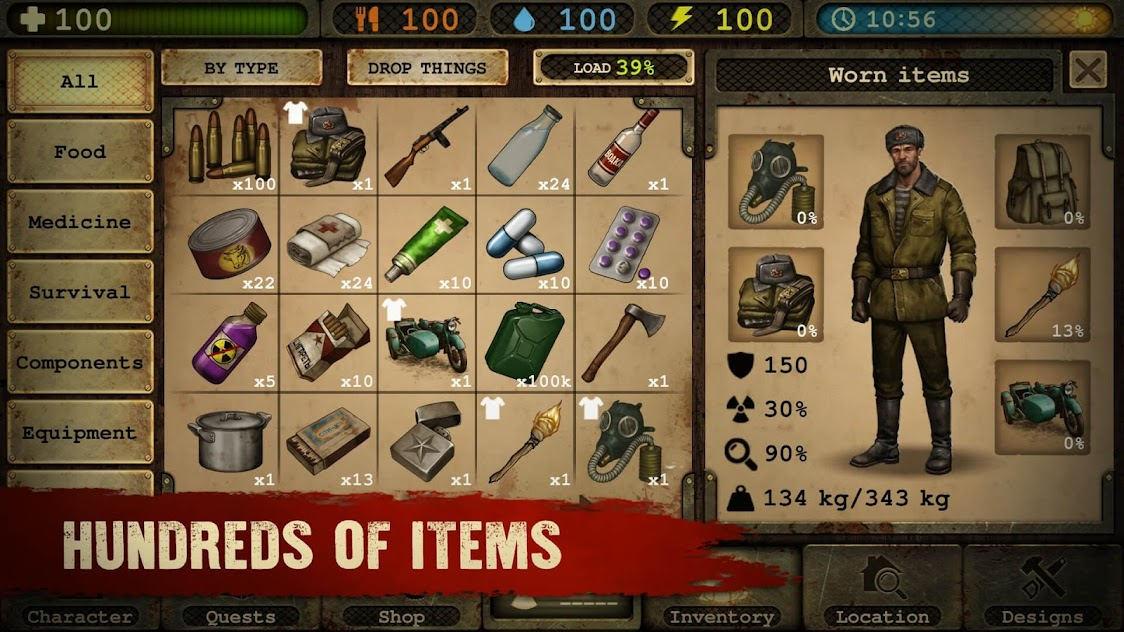 day r survival apocalypse lone survivor and rpg mod apk download
