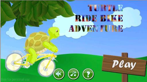 Turtle ride bike adventure