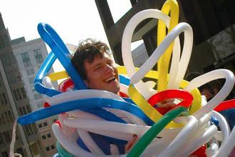 Photo: Robert Bowden got some very cool shots of Marco Riolo being rolled into the Turnadaisy Balloon Google Fiber more awesome pics by smug mug here http://btechlighting.smugmug.com/Events/Google-Fiber-Flash-Mob-GR/11560806_Aq9Xz#814291140_uWbt7
