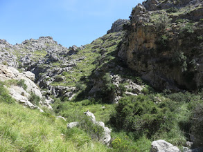 Photo: Torrent de Mortitx; se sale por la ladera de la dereha