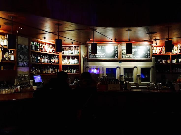 The bar at Tavern Law.