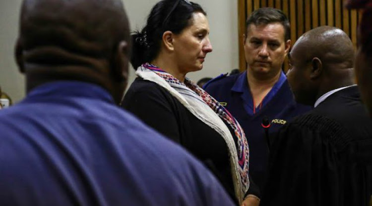 Convicted racist Vicki Momberg just after she was sentenced to 3 years at the Randburg Magistrate court.