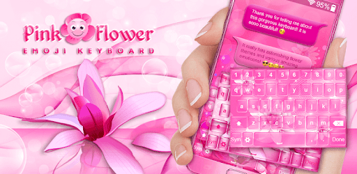 Pink flower emoji keyboard apps on google play mightylinksfo