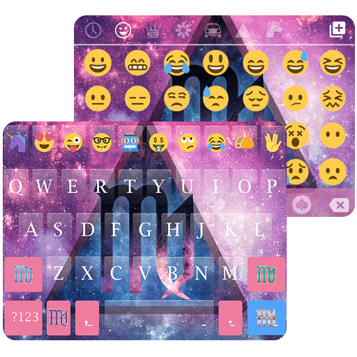 Virgo Emoji Keyboard Theme