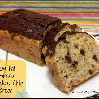 Low Fat Banana Chocolate Chip Bread - Super Moist.