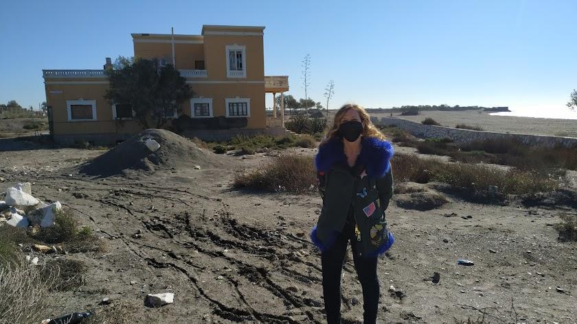 Ana Martínez Labella en la zona de las obras paradas