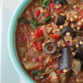 Mediterranean Vegan Vegetable Stew.