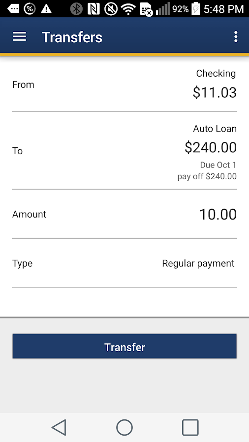 WPCU Mobile Banking- screenshot