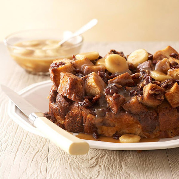Easy Slow Cooker Caramel-banana-pecan Bread Casserole Recipe