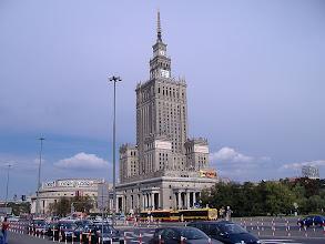 """Photo: Poznávání Varšavy - virtuální prohlídka. Palác kultury - """"dar bratrských národů Sovětského svazu""""."""