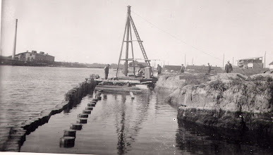 Photo: 1928 Odense Kanal nær Odense Roklub på Norges Kaj