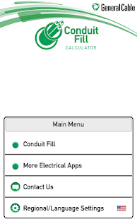 General cable conduit fill apps on google play screenshot image greentooth Image collections