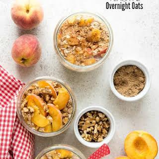 Peach Pie Overnight Oats.