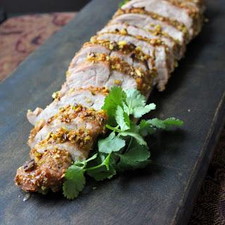 Pistachio Crusted Pork Tenderloin.