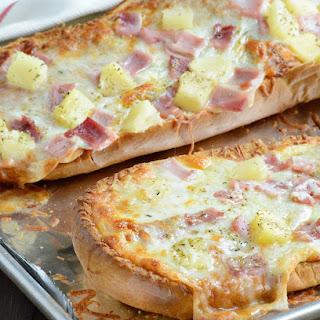 Hawaiian French Bread Pizza.