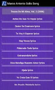 Marco Antonio Solís Lyrics screenshot 4