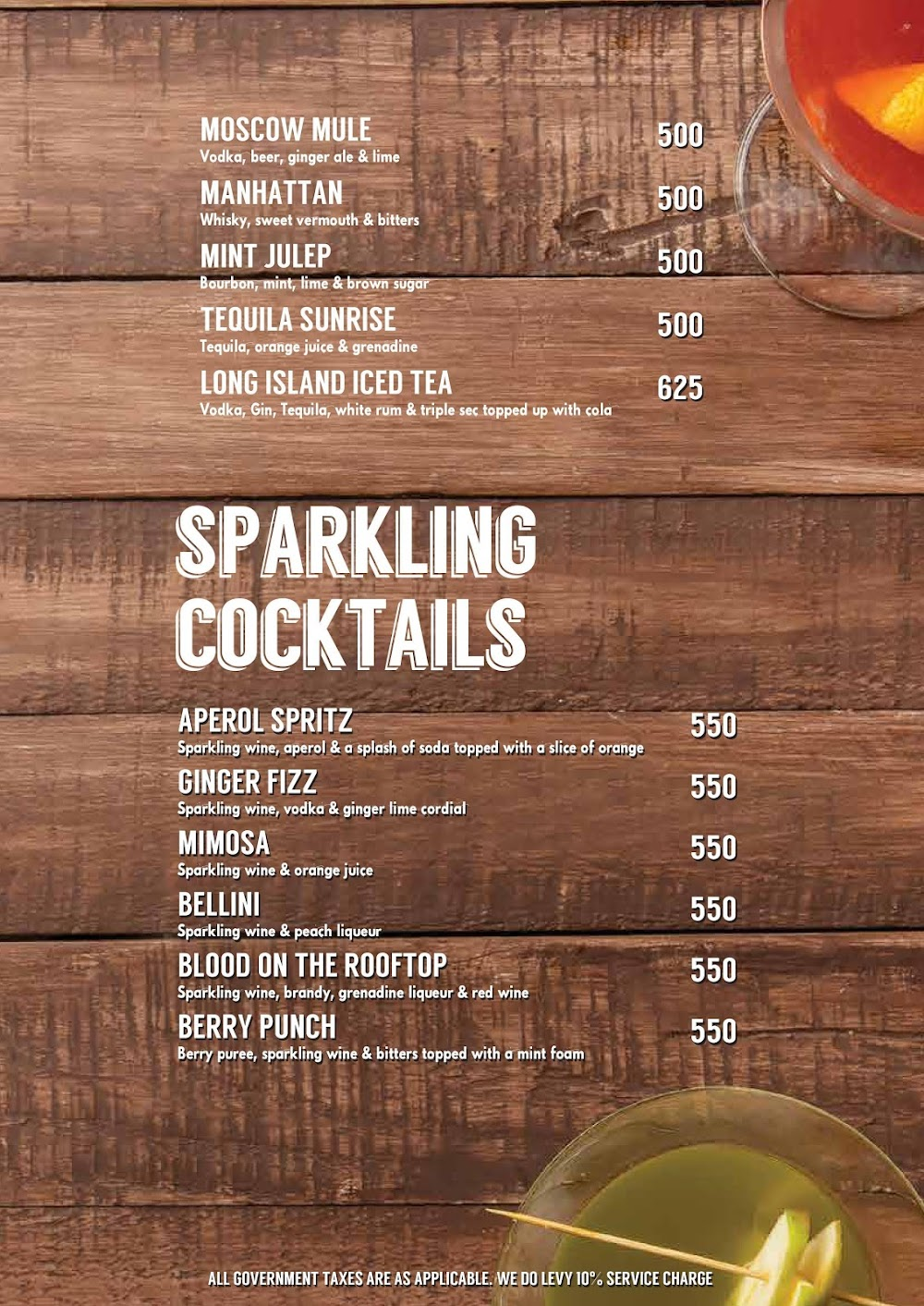 Lord Of The Drinks menu 4