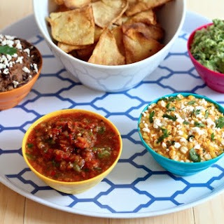 Mexican Dips 3 Ways + Homemade Tortilla Chips