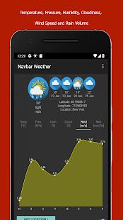 Navbar Weather - forecast at your Navigation Bar Screenshot