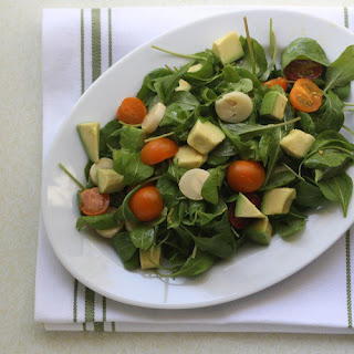 Arugula Salad with Avocado and Hearts of Palm