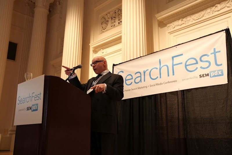 Photo: SearchFest 2012 Advanced Social Media Tactics with Will Scott & Marty Weintraub - Photo courtesy of Thomas Hayden