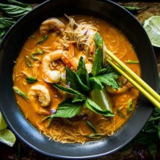 Coconut Shrimp Laksa.