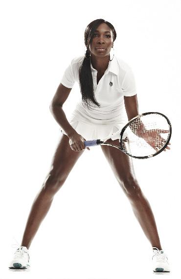 Venus Williams holding tennis racket