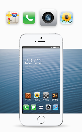 Free Theme for iphone 6S ios launcher 1.0.4 screenshots 2