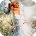Painting woman Live wallpapers icon