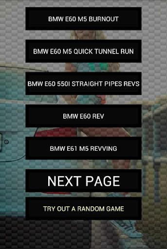 Engine sounds of E60 M5 550i