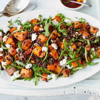 Sweet Potato, Lentil And Feta Salad.
