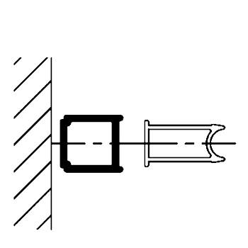 Profilé de compensation, 15 mm, blanc, pour parois de la série Phoenix