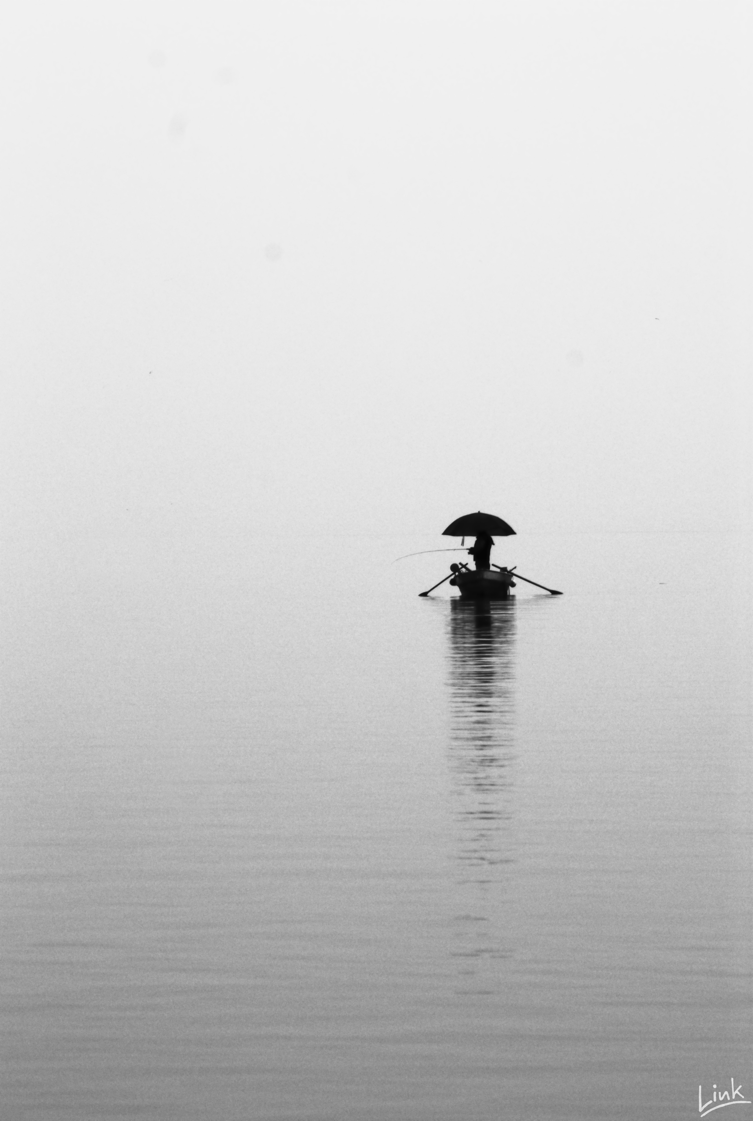 Photo: Lonely Fisherman on Lake Constance (  #Bodensee )  for #MonochromeMonday curated by +Charles Lupica +Hans Berendsen+Jerry Johnson +Manuel Votta and +Steve Barge  +Monochrome Monday
