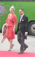 Photo: Princess Alexandra zu Sayn-Wittgenstein-Berleburgand husband Count Jefferson of Pfeil and Klein-Ellguth