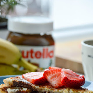 Banana and Nutella Stuffed French Toast.
