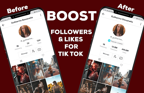 Download Full TikBooster - Fans & Followers & Likes & Hearts Tlk 1.0.3 APK