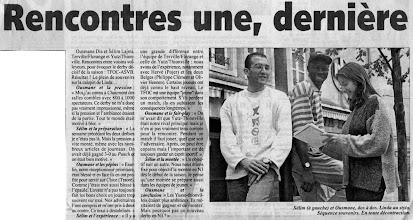 Photo: 27-06-97 Sélim Lajmi et Ousmane Dia dos à dos répondent à Linda Roehm