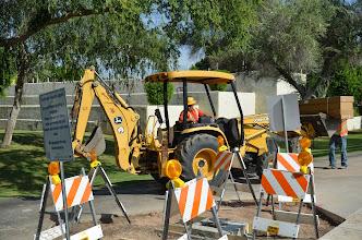 Photo: Equipment needed to install the Scottsdale Rotary Clock