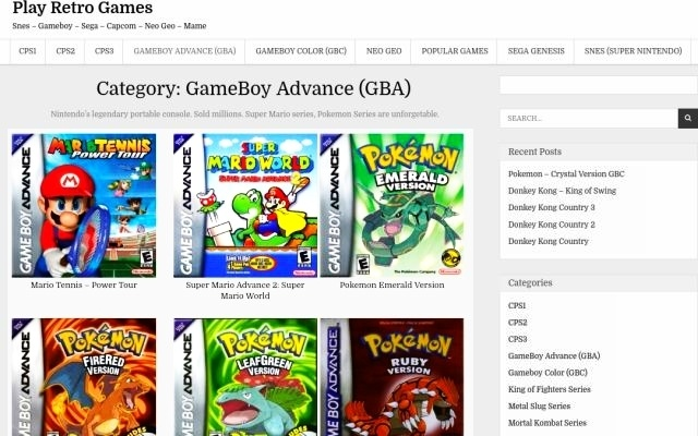 Play Retro Games with Online Emulator