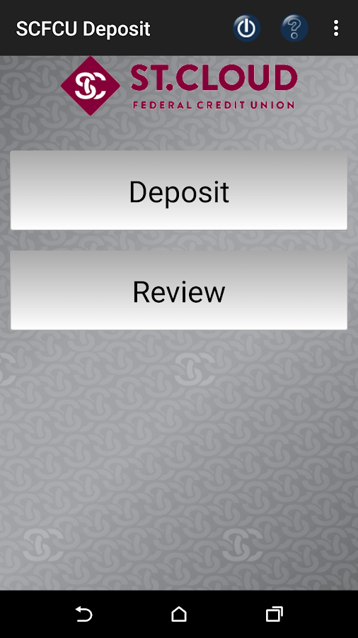 SCFCU Mobile Deposit™- screenshot