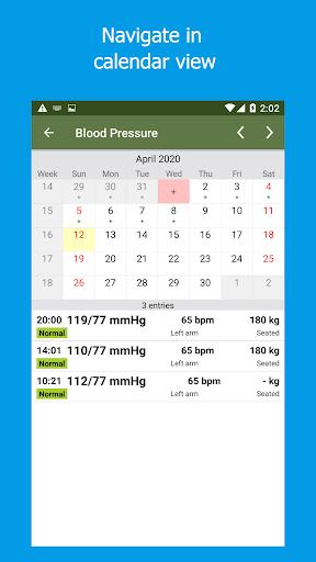 Blood Pressure Tracker 2.7.5.2-inApp screenshots 1