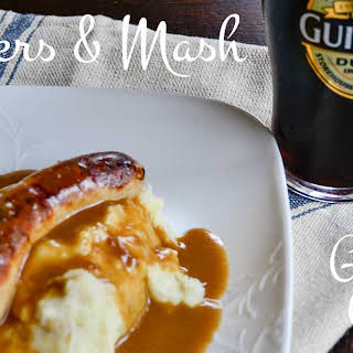 Banger's & Mash with Guinness Gravy.
