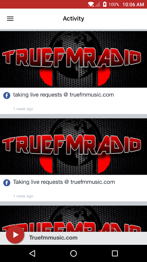 Truefmmusic.com- screenshot