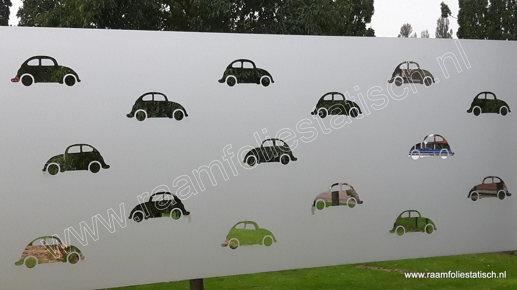 Statische raamfolie uitgesneden motieven auto 60cm