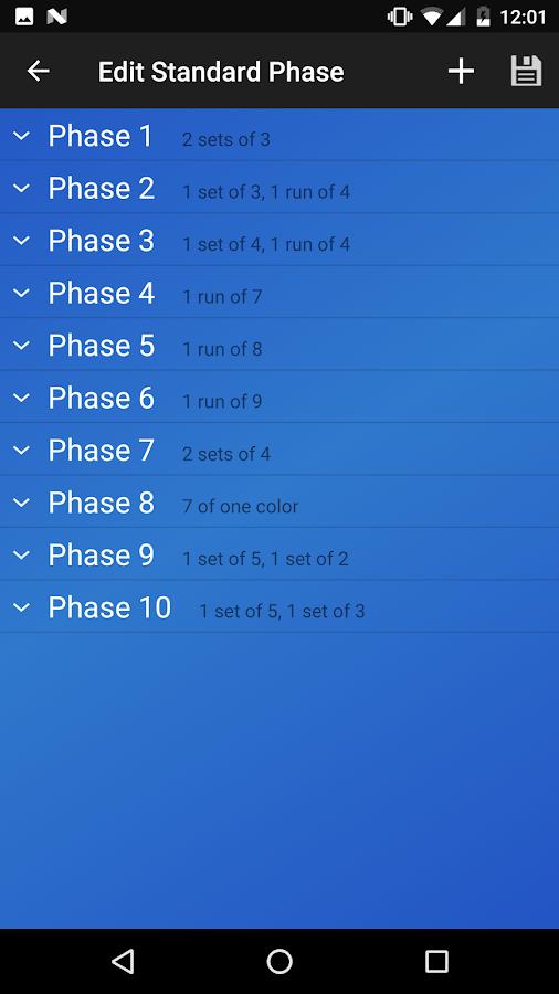 Phase 10 Spiel
