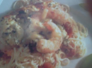 Shrimp In Angel Hair Pasta Casserole Recipe