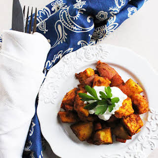 Curry Roasted Vegetables with Paneer.